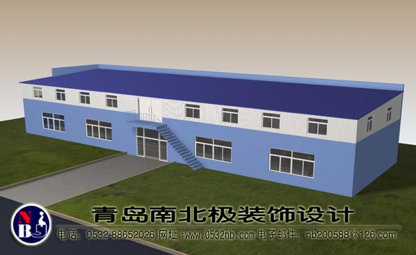青岛建新厂房彩钢板库房设计图