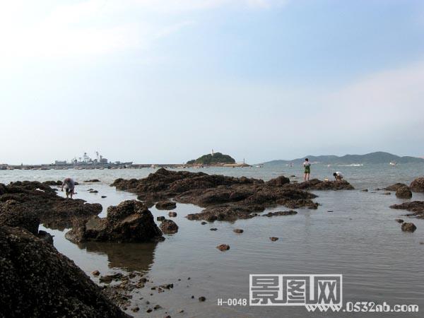 青岛栈桥风景-小青岛