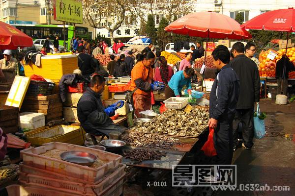 青岛海鲜市场见闻照片-青岛自由市场图片-景图网