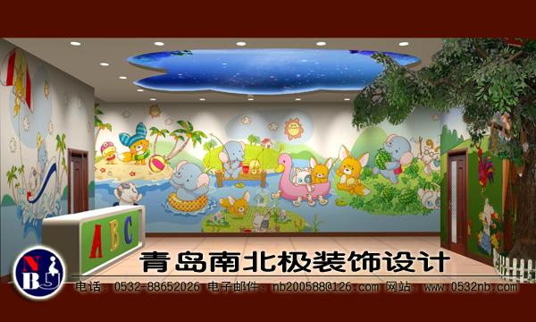 幼儿园门厅装饰图片,幼儿园门厅效果图,入户门厅墙装饰效果